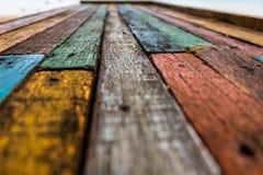 Fundo de madeira velho colorido imagens de stock