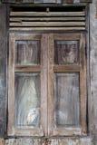 Fundo de madeira velho da janela Imagens de Stock Royalty Free