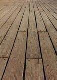 Fundo de madeira velho da plataforma Opinião do close up com detalhes Imagens de Stock