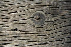 Fundo de madeira velho da textura do vintage com um nó Imagens de Stock Royalty Free