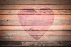 Fundo de madeira velho do coração imagem de stock
