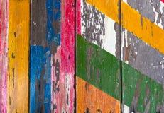 Fundo de madeira velho pintado com pintura da casca imagem de stock