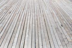 Fundo de madeira velho rústico branco envelhecido do assoalho do terraço da prancha Fotos de Stock