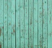 Fundo de madeira verde da cerca Fotografia de Stock