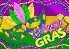 Fundo de Mardi Gras ilustração royalty free
