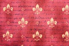 Fundo de matéria têxtil com flor de lis fotografia de stock royalty free