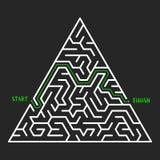 Fundo de Maze Game Labirinto com entrada e saída ilustração royalty free