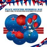 Fundo de Memorial Day dos oficiais de paz ilustração royalty free