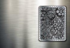 Fundo de Metall com engrenagens Imagens de Stock Royalty Free