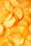 Fundo de microplaquetas douradas friáveis com textura com nervuras, temperado, Imagens de Stock Royalty Free