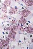 fundo de muitas 500 euro- cédulas Moeda da UE Imagens de Stock