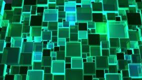 Fundo de néon dos cubos das luzes verdes em 4k video estoque