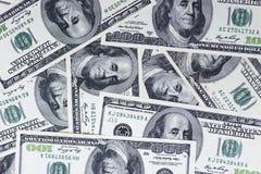 Fundo de 100 notas de dólar Foto de Stock