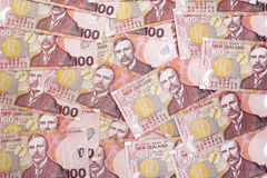 Fundo de notas de banco de Nova Zelândia $100 Fotos de Stock Royalty Free
