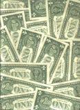 Fundo de notas de banco dos E.U. Foto de Stock