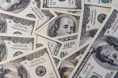 Fundo de 100 notas de dólar Imagem de Stock Royalty Free