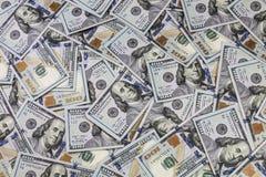 Fundo de 100 notas de dólar Imagens de Stock