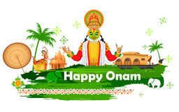 Fundo de Onam que mostra a cultura de Kerala Fotos de Stock Royalty Free