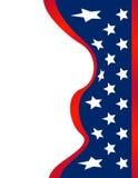 Fundo de ondulação da bandeira americana Foto de Stock