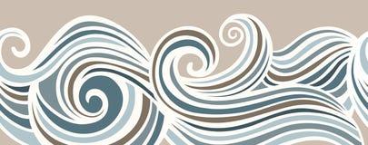 Fundo de ondulação sem emenda horizontal abstrato Imagens de Stock