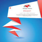 Fundo de Origami Foto de Stock Royalty Free