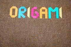 Fundo de Origami Origami japonês imagem de stock