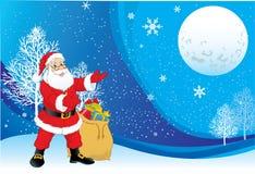 Fundo de Papai Noel do Natal ilustração do vetor