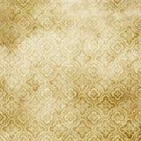 Fundo de papel amarelado envelhecido com testes padrões antiquados Foto de Stock