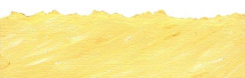 Fundo de papel amarelo com borda rasgada Fotos de Stock