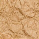 Fundo de papel amarrotado da textura. Papel do ofício fotografia de stock