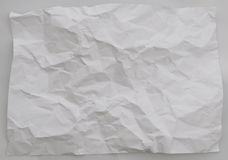 Fundo de papel amarrotado no fundo branco Fotografia de Stock Royalty Free