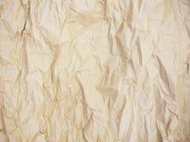 Fundo de papel amarrotado velho da textura Foto de Stock Royalty Free