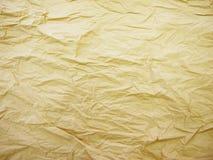 Fundo de papel amarrotado velho da textura Fotografia de Stock