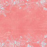 Fundo de papel botânico de Florals do vintage Foto de Stock Royalty Free