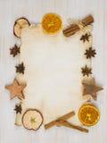 Fundo de papel da receita na tabela de madeira clara Foto de Stock Royalty Free