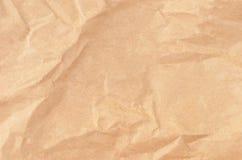 Fundo de papel de empacotamento Wrinkled Imagens de Stock