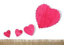 Fundo de papel dos corações Fotografia de Stock Royalty Free