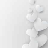 Fundo de papel dos corações Foto de Stock