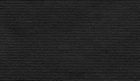 Fundo de papel preto da textura Fotos de Stock