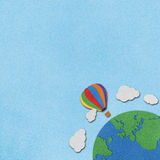 Fundo de papel recicl balão Imagens de Stock