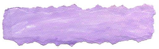 Fundo de papel roxo com borda rasgada Imagem de Stock