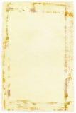 Fundo de papel velho com bordas ásperas Fotos de Stock