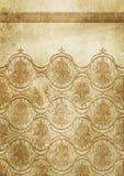 Fundo de papel velho com testes padrões do victorian Fotografia de Stock