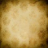 Fundo de papel velho com testes padrões florais Imagens de Stock Royalty Free