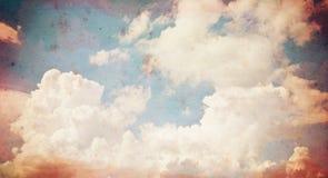 Fundo de papel velho do grunge da nuvem. Imagens de Stock Royalty Free