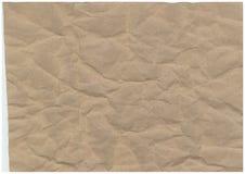 Fundo de papel velho enrugado do teste padrão da textura Fotos de Stock