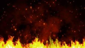 Fundo de partículas do fogo video estoque