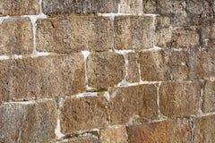 Fundo de pedra córnico horizontal da parede do bloco do granito Imagens de Stock