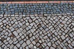 Fundo de pedra quadrado modelado do pavimento imagens de stock royalty free