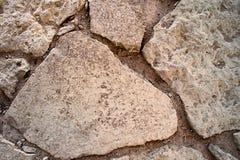 Fundo de pedras de pavimentação da pedra calcária antiga fotografia de stock